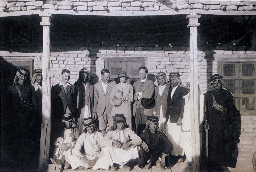 Expedition house and staff, 1928-29..jpg